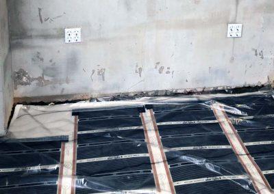 Floor heating installation Szigetvar