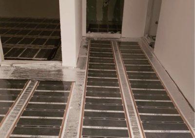 Balatonlelle house floor heating