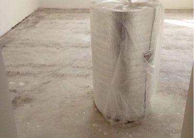 Csömör floor heating insulation