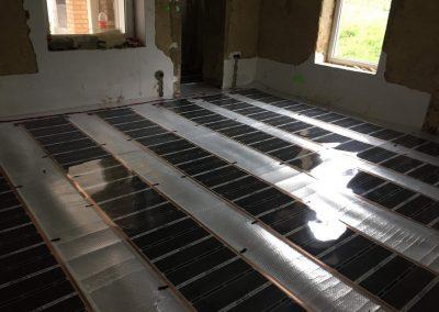 Dunaújváros infra floor heating