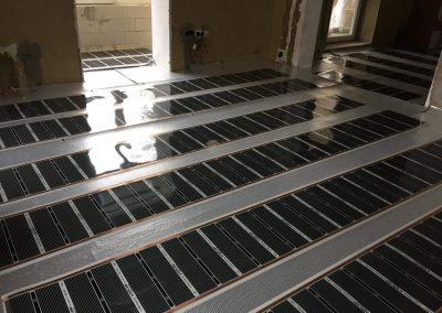 Dunaújváros floor heating installation