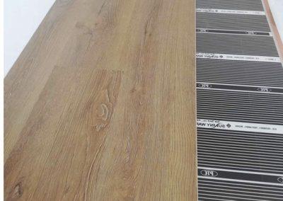 Kerepes laminated floor heating