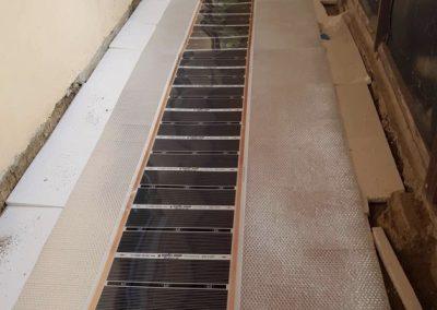 Kőtelek floor heating installation