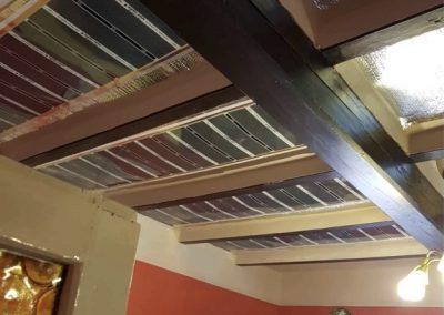 Kőtelek jobbfolia ceiling heating installation