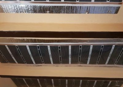 Kőtelek ceiling heating installation