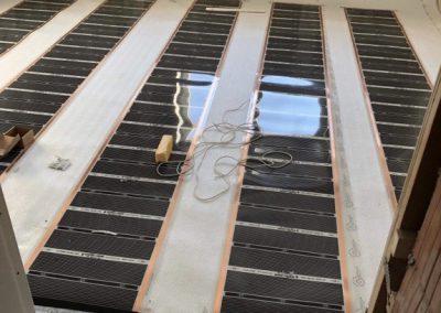 Sajószöged floor heating installation