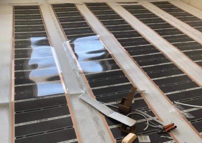 Sajószöged heating foil installation